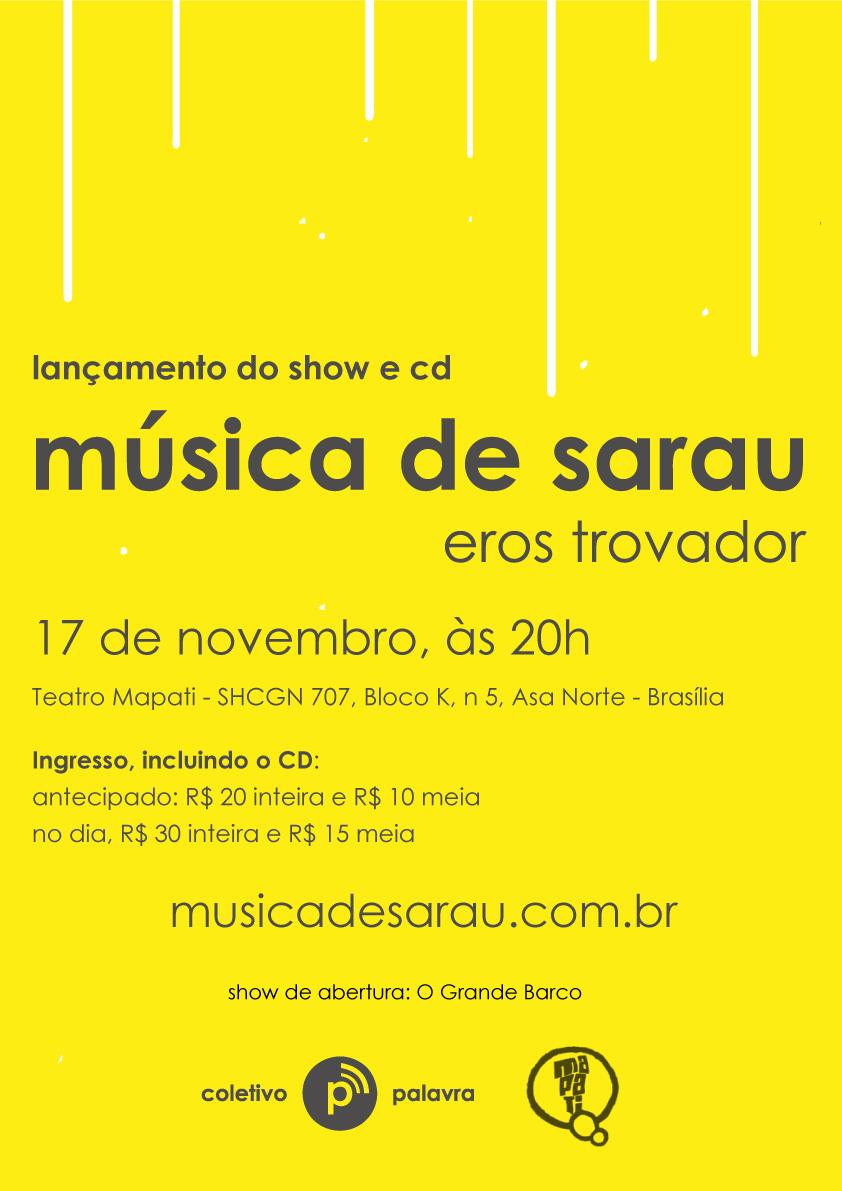 Lançamento do show e cd Música de Sarau